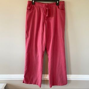 Grey's Anatomy Red Scrub Pants with Drawstring